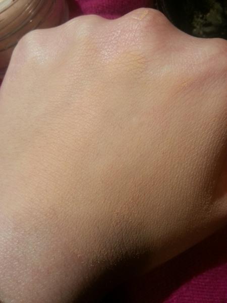Ecco solo la polvere usata come cipria