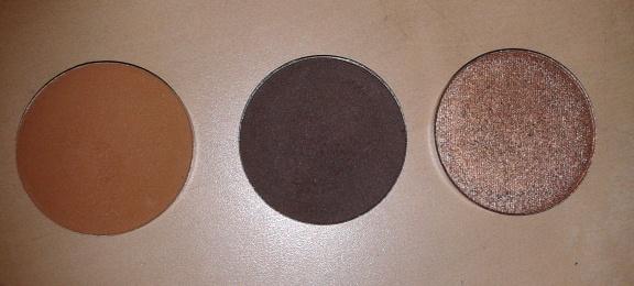 NABLA Cosmetics ombretti refill - in ordine: Caramel, Camelot & Glitz
