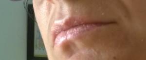Altro swatch sulle labbra