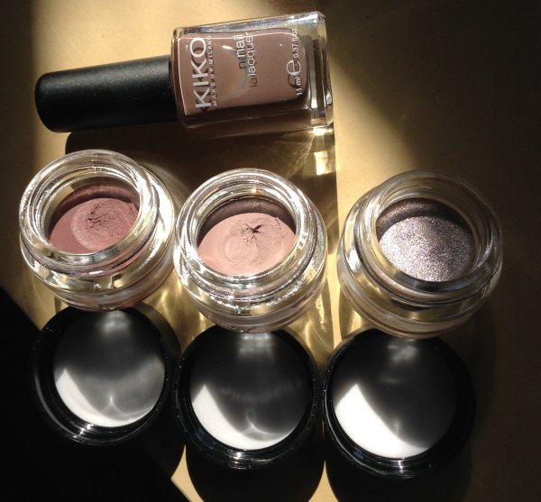 Kiko Cream Crush Lasting Colour Eyeshadow - da sx 03, 04, 05 + smalto in omaggio, n 321