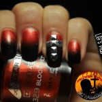 [Tutorial] Bloody Gradient: idea nail art Halloween