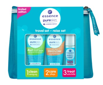 essence pure skin travel set